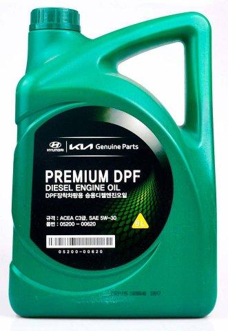 05200-00620 - Масло моторное HYUNDAI  5W30 C3 Premium DPF дизель - 6 литров