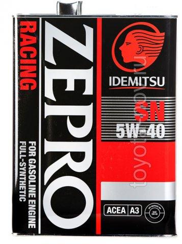 3585-004 - Масло моторное  Idemitsu  ZEPRO  RACING 5W40 SN  4 литра СИНТЕТИКА (ПАО) с эстерами