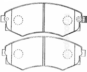 PF-2245 - Колодки HYUNDAI Elantra, Sonata, KIA Magentis, Optima (1997-2003), NISSAN Serena, Vanette (1991-1997) передние
