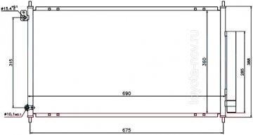 104732Y - Радиатор HONDA Accord (1998-2003) кондиционера