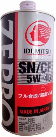 1849-001 - Масло моторное  Idemitsu  ZEPRO  EURO SPEC  5W40 SN/CF -  1 литр СИНТЕТИКА