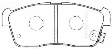 PN-9443 - Колодки  DAIHATSU Sirion, YRV, SUZUKI Alto (2005-) передние