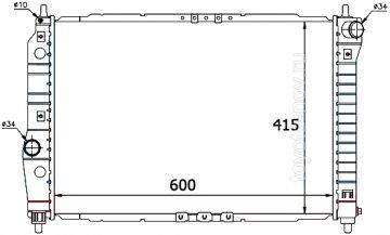 301645BA - Радиатор CHEVROLET Aveo, DAEWOO Kalos (2003-2008) двигателя (1.4) F14 - механика