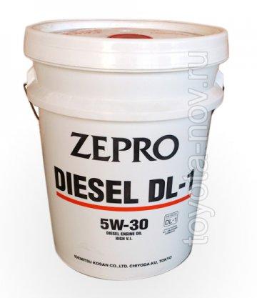 2156-020 - Масло моторное Idemitsu  ZEPRO DIESEL DL-1 5W30 - 20 литров (c сажевым фильтром DPF)