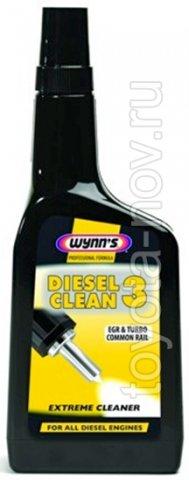 W12293 - WYNNS Diesel Clean 3 - Дизельная присадка - мощный очиститель топливной системы - 0,5 литра