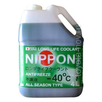 4560457010039 - Антифриз  NIPPON LLC готовый -40C зелёный - 4 литра ЯПОНИЯ