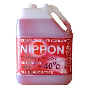 4560457010046 - Антифриз  NIPPON LLC готовый -40C красный- 4 литра ЯПОНИЯ