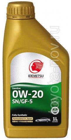 30021328-724 - Масло моторное Idemitsu  0W20 SN/GF-5 -  1 литр СИНТЕТИКА