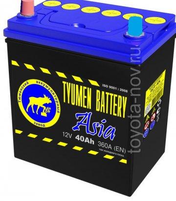 6CT-40L1-ASIA - Аккумулятор 6CT40L ASIA 360А 187x128X223 mm ASIA-стандарт прямая полярность (+-)