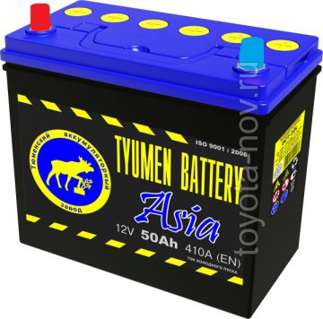 6CT-50L1-ASIA - Аккумулятор 6CT50L ASIA 410А 236X128X223 mm ASIA-стандарт прямая полярность (+-)