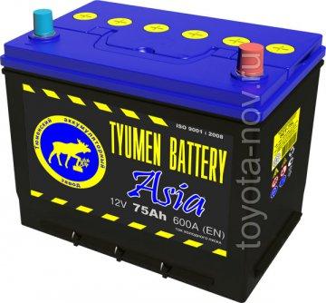 6CT-75L0-ASIA - Аккумулятор 6CT75L ASIA 600А 266X172X220 mm ASIA-стандарт обратная полярность (-+)
