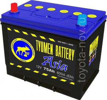 6CT-75L-ASIA - Аккумулятор 6CT75L ASIA 600А 266X172X220 mm ASIA-стандарт прямая полярность (+-)