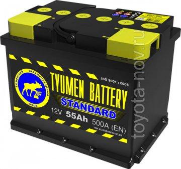 6CT-55L1 - Аккумулятор 6CT55L STANDARD 500А 242X175X190 mm EURO-стандарт прямая полярность (+-)