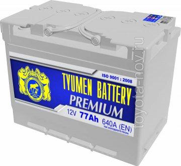 6CT-77LA-PR - Аккумулятор 6CT-77LA PREMIUM 640А 278x175X190 mm  EURO-стандарт обратная полярность (-+)