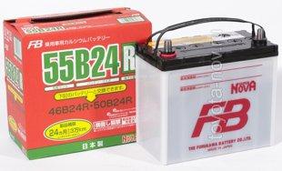 Аккумулятор FB  55B24R, JAPAN-стандарт, 45Ah 570A 234x127x220 (+-)