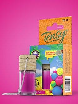 "TB-09 - Ароматизатор TENSY ""Бабл Гам"" бутылочка с деревянной крышкой"