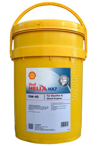 550040008 - Масло моторное Shell Helix HX7 10W40 -  20л