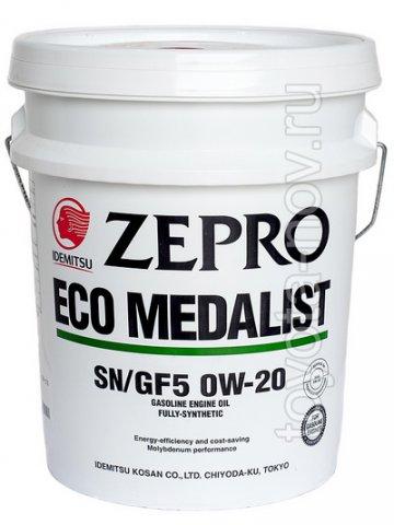 3583-020 - Масло моторное  Idemitsu  ZEPRO   ECO MEDALIST  0W20 SN/GF-5 20 литров СИНТЕТИКА энергосберегающее