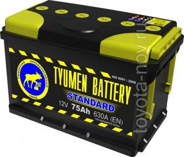 6CT-75L1 - Аккумулятор 6CT75L STANDARD 630А 306x175X190 mm EURO-стандарт прямая полярность (+-)
