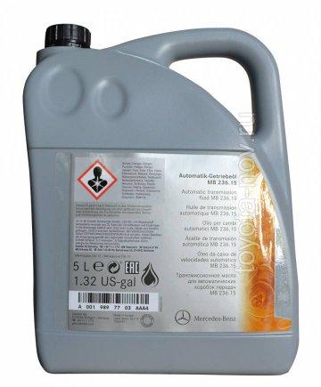 A001989770311 - Масло ATF АКПП 5 литров, ATF134FE, ATF7803, MB.236.15