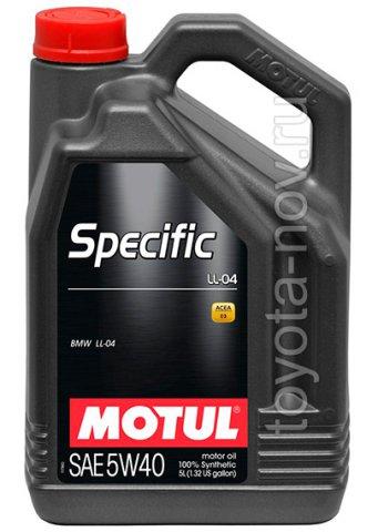 101274 - Масло моторное Motul  SPECIFIС BMW LL-04 5W40 - 5 литров  (BMW LL-04)