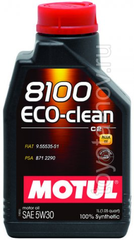 101542 - Масло моторное 8100 ECO-CLEAN 5W-30 - 1 литр  (PSA B71 2290 ; FIAT 9.55535-S1)