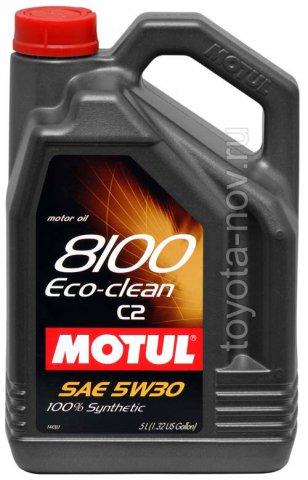 101545 - Масло моторное 8100 ECO-CLEAN 5W-30 - 5 литров  (PSA B71 2290 ; FIAT 9.55535-S1)