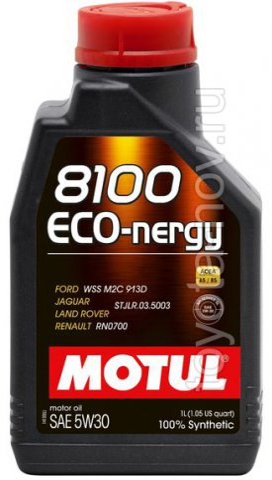 102782 - Масло моторное 8100 ECO-NERGY 5W-30 - 1 литр  (FORD WSS M2C 913 C ; JAGUAR LAND ROVER STJLR.03.5003 ; RENAULT RN0700)