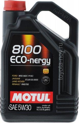 102898 - Масло моторное 8100 ECO-NERGY 5W-30 - 5 литров  (FORD WSS M2C 913 C ; JAGUAR LAND ROVER STJLR.03.5003 ; RENAULT RN0700,)