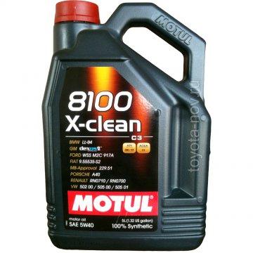 104720 - Масло моторное 8100 X-clean 5W-40 - 4 литра  (BMW LL-04 ; FORD WSS M2C 917 A ; GM-OPEL dexos2TM ; MB-Approval 229.51 ; PORSCHE A40 ; RENAULT RN0710 - RN0700 ; VW 502 00 – 505 00 – 505 01; FIAT 9.55535-S2)