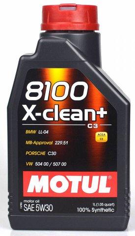 106376 - Масло моторное 8100 X-clean + 5W-30 - 1 литр  (BMW LL-04 ; MB-Approval 229.31 / 229.51; VW 504 00/507 00; PORSCHE C30)