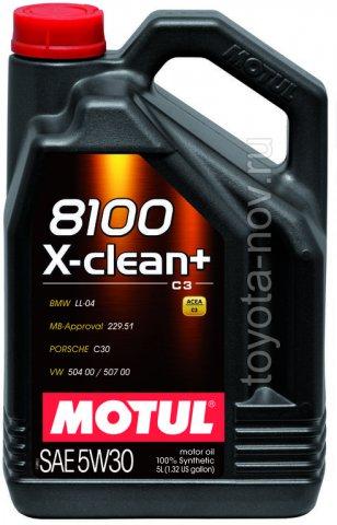 106377 - Масло моторное 8100 X-clean + 5W-30 - 5 литров  (BMW LL-04 ; MB-Approval 229.31 / 229.51; VW 504 00/507 00; PORSCHE C30,)