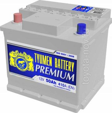 6CT-50L1-PR - Аккумулятор 6CT-50L PREMIUM 410A 206x175x190 mm  EURO-стандарт прямая полярность (+-)