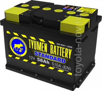 6CT-58L1 - Аккумулятор 6CT58L STANDARD 510А 242X175X175 mm EURO-стандарт прямая полярность (+-) низкий