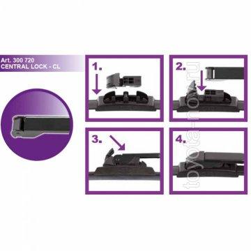 300720 - Адаптер-переходник  для щеток с защелкой CENTRAL LOCK (2шт)
