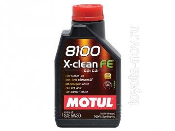 104775 - Масло моторное 8100 clean FE 5W-30 - 1 литр  (GM-OPEL dexos2 ; MB-Approval 229.51 ; PSA B71 2290 ; VW 502 00 / 505 01 ; FIAT 9.55535-S1 / S3)