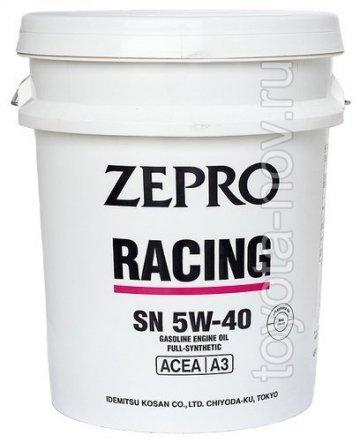 3585-020 - Масло моторное  Idemitsu  ZEPRO  RACING 5W40 SN - 20 литров СИНТЕТИКА (ПАО) с эстерами