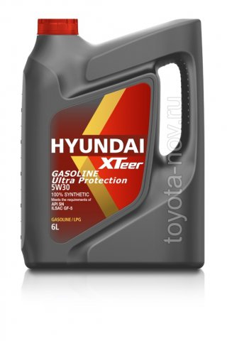 1061011 - Масло моторное HYUNDAI XTeer Gasoline   Ultra Protection  5W30 -  6 литров