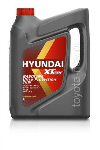 1061011 - Масло моторное HYUNDAI XTeer Gasoline   Ultra Protection  5W30 -  6 литров