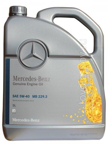 A000989770213BHFR - Масло моторное Mercedes-Benz 229.3 5W40 -  5 литров