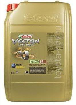 15B353 - Масло моторное Castrol  Vecton Long Drain 10W-40 E7 -  20 литров (доставка до склада 3 дня)