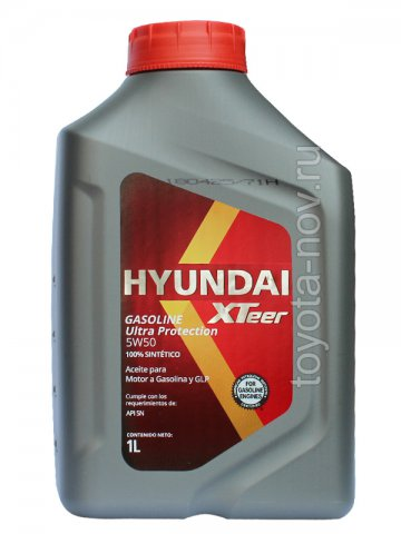 1011129 - Масло моторное HYUNDAI XTeer Gasoline   Ultra Protection  5W50 -  1 литр