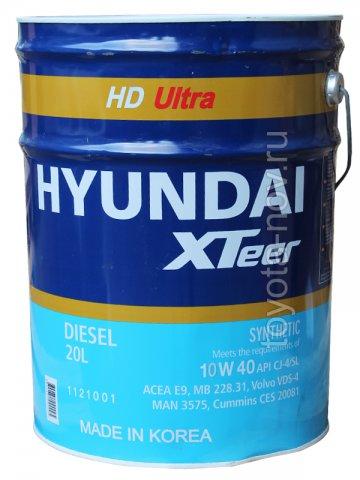 1120015 - Масло моторное HYUNDAI XTeer Diesel HD  7000 10W40 CI-4 - 20 литров ГРУЗОВОЕ