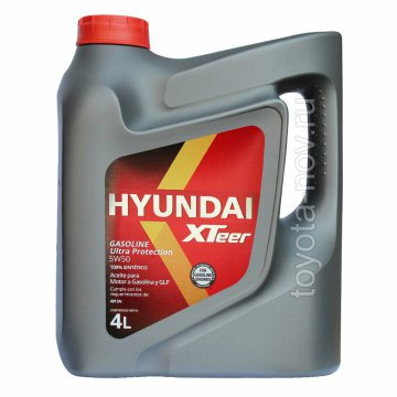 1041129 - Масло моторное HYUNDAI XTeer Gasoline   Ultra Protection  5W50 -  4 литра
