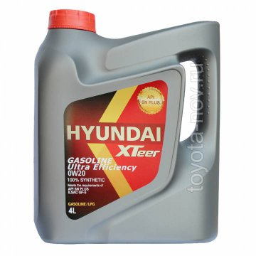 1041121 - Масло моторное HYUNDAI XTeer Gasoline   Ultra Efficiency 0W20  - 4 литра