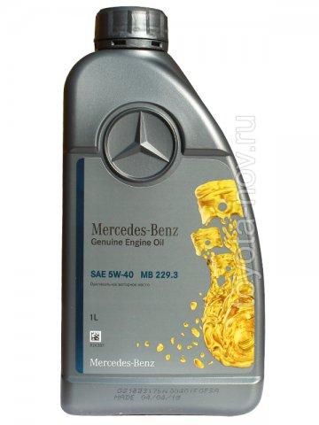A000989770211BHFR - Масло моторное Mercedes-Benz 229.3 5W40 -  1 литр