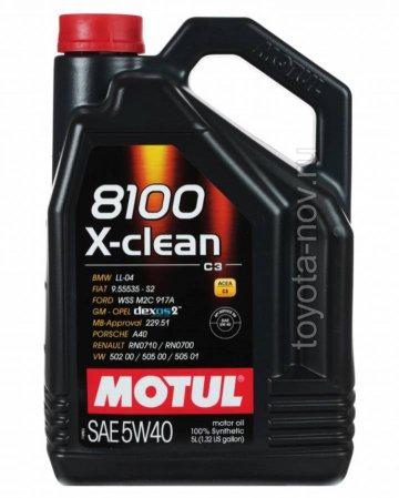 109373 - АКЦИЯ!!! Масло моторное 8100 X-clean 5W-40 GEN2 - 5 литров по цене 4-х  (BMW LL-04 ; FIAT 9.55535-S2 / T2 ; GM DEXOS2 ; MB-APPROVAL 229.52 / 226.5 ; PORSCHE C40 ; RENAULT RN0710 / RN0700 ; VW 511 00)