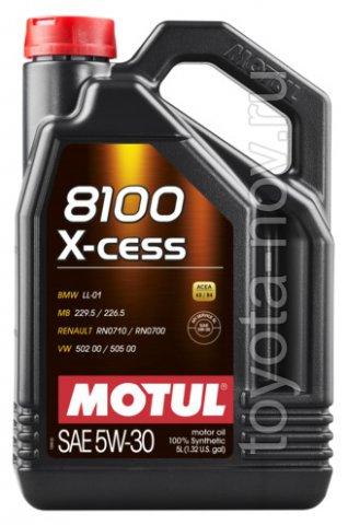 108946 - Масло моторное 8100 X-Cess 5W-30 - 5 литров  (BMW LL-01 ; MB 229.5 / 226.5 ; RN0710 / 0700 ; VW 502 00 - 505 00,)