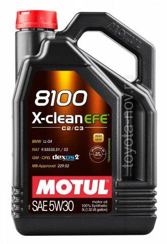 109887 - АКЦИЯ!!! Масло моторное 8100 X-Clean EFE 5W-30 - 5 литров по цене 4-х  (BMW LONGLIFE-04 ; GM-OPEL DEXOS2 ; MB-APPROVAL 229.52 ; VW 505 01 ; FIAT 9.55535-S1 / S3,)
