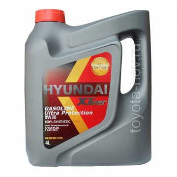 1041122 - Масло моторное HYUNDAI XTeer Gasoline   Ultra Protection  0W30 -  4 литра
